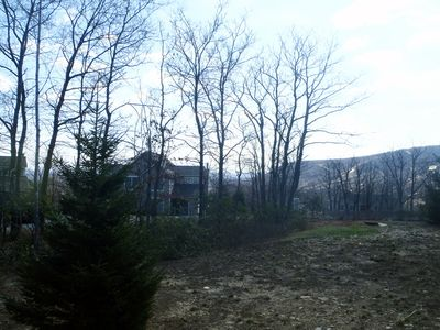 View of the mountain early spring