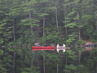 Woodstock lodge photo - Enjoying Shagg Pond in front of Camp Mollocket