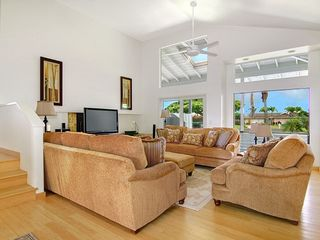 Poipu house photo - Main living room - 2 AC, high ceiling, 46' HDTV