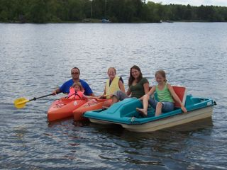 Winter house photo - Enjoy the paddle boat included with your stay. Family Fun!