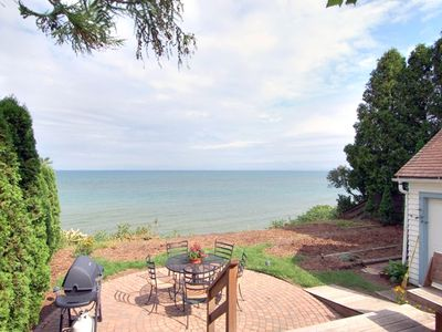 Rear deck, yard and Lake Michigan view!