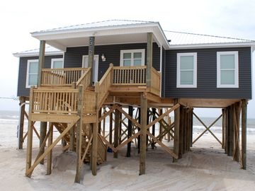 Dauphin Island house rental - Gulf Front on Dauphin Island's West End Beach, Family Friendly, Low Key!