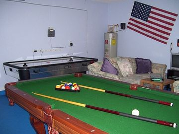 Games room, pool, air hockey, electronic darts, TV