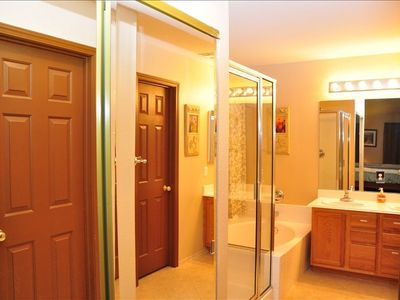 Master bath - separate shower & tub