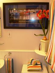 Annapolis cottage photo - First floor shabby chic bathroom depicts our love of the Chesapeake Bay!
