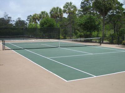 Tennis courts at Gulf Place
