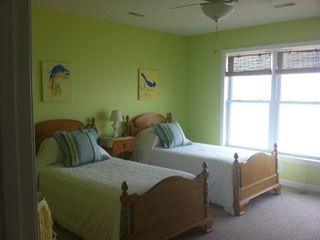 Margarita Room, twin beds on 2nd Floor with a water view.