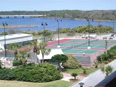 Four Lighted Tennis Courts