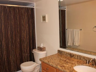 Hall Bathroom with Tub and Shower.