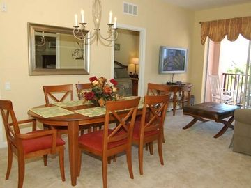 Windermere condo rental - Dining Room, Living Room and Balcony