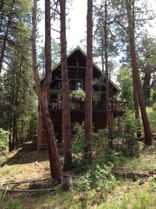 Payson cabin rental - Cabin view facing the national forest