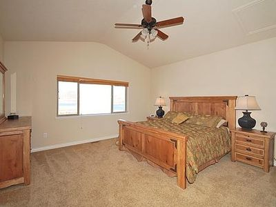 Jordanelle condo rental - Bedroom Master, with large his and hers closets