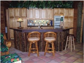 Anna Maria house photo - Bamboo Bar in Living Room