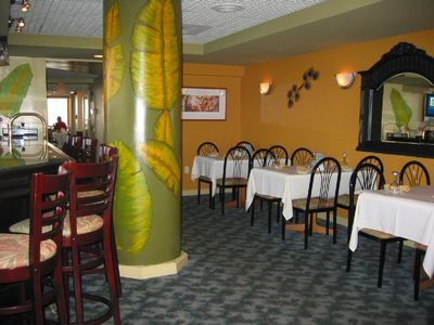Rick's Crab trap restaurant within the resort.
