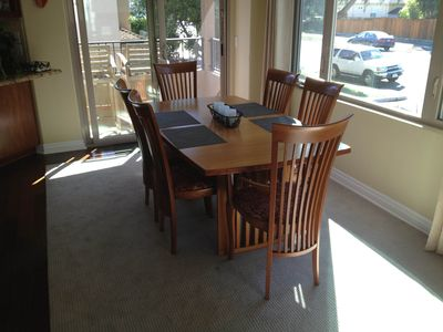 Pacific Beach townhome rental - Dining room table