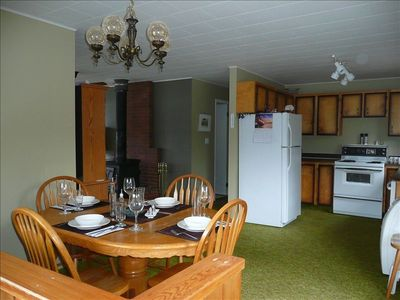Great spacious kitchen-dining area with all the comforts of home.