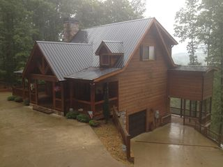 Ellijay cabin photo - VERY Cozy when it's Rainy!!!!