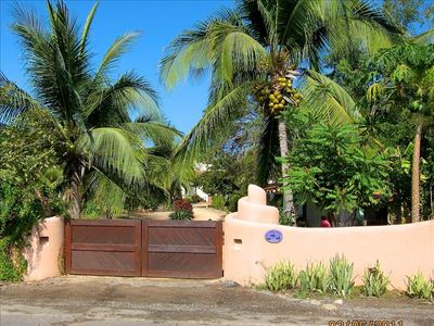 Entrance from the Playa Blanca highway just before you arrive at Barra de Potosi