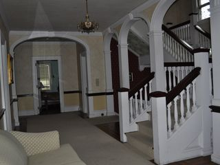 Newport chalet photo - Hall on second floor and stair case to third floor.