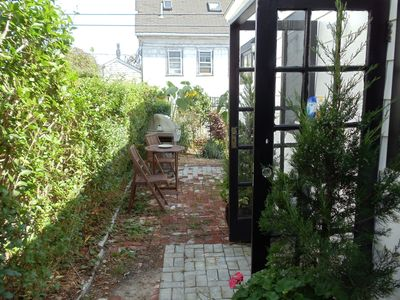 Provincetown cottage rental - Outside Shower and Gas Grill
