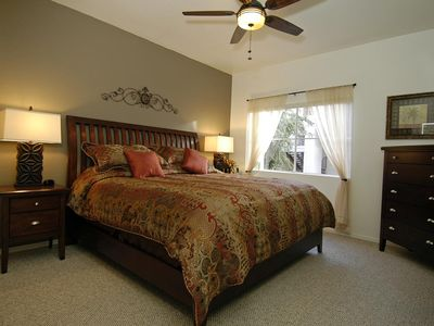 Large bedroom with an extremely comfortable king size bed