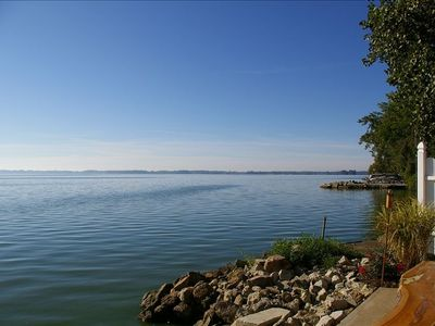 Enjoy this beautiful panoramic view of the lake.