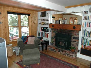 Living Room with Gas Fireplace & Large Screen TV