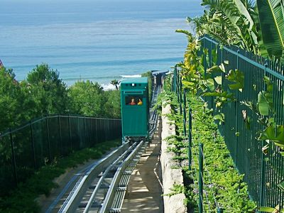 Funicular to the Beach from Strand Vista Park