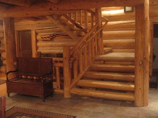 Granby lodge photo - Magnificent log staircase