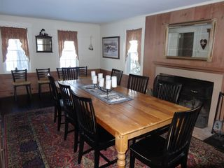 North Conway house photo - Dinning room with fireplace