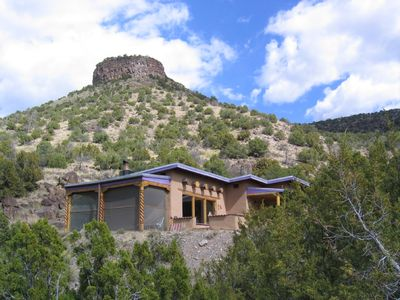 Taos house rental - You can climb to the top and take in the whole valley!