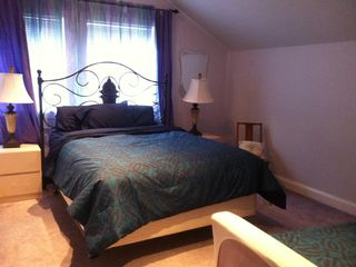 Hampton Bays house photo - bedroom number 2 with queen sized bed