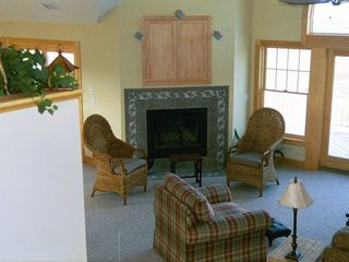 Corolla house photo - Great Room fireplace area