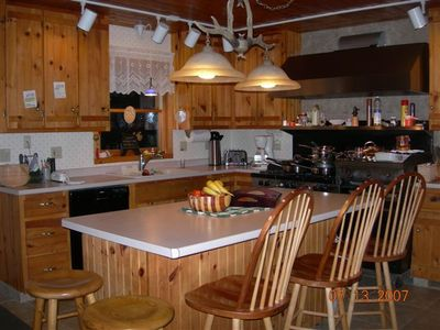 Wayne chalet rental - Upstairs Kitchen-fully equipped