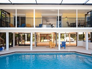 Sanibel Island house photo - View of the heated pool and lanai