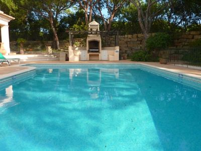 Quinta do Lago villa rental - Pool view to BBQ