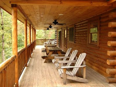Bryson City cabin rental - Covered Deck