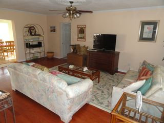 Hernando Beach house photo - The family room is open to the kitchen, very comfortable & bright!