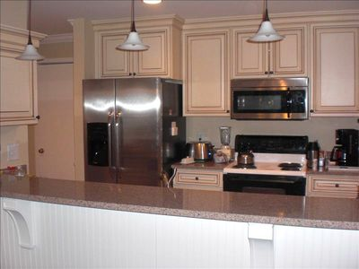 Wild Dunes condo rental - Renovated kitchen and Bathrooms. Full sized washer & dryer. Blender. Some spice.