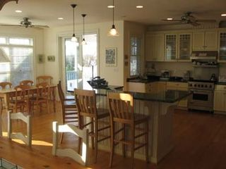 Cape May house photo - Open kitchen area with seating for 12