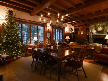 Dining area at Christmas