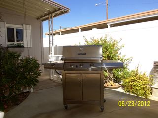 Thousand Palms house photo - Your own gas stainless steel grill! Make good use of it!