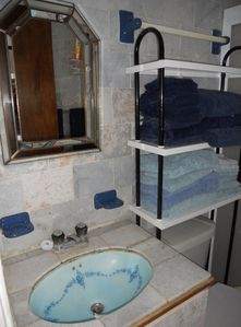 Blue Marble Shower Only