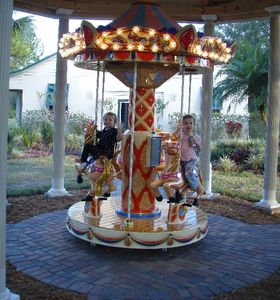 1 of 3 motorized carousel horses