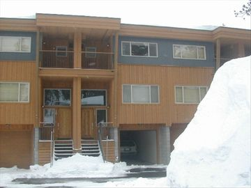 Kirkwood condo rental - Lost Cabin from outside - two car garage and balcony