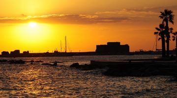Sunset at Pafos Harbour