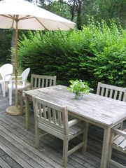 Chatham house photo - Back Deck (umbrella and outdoor seating)