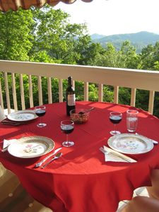 Have a romantic dinner on the balcony