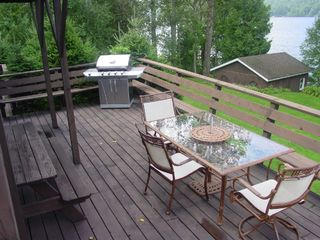 Chateaugay Lake house photo - Enjoy deck overlooking lake