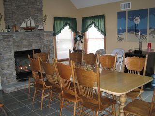 Hampton Bays house photo - Dining Room with Gas Fireplace